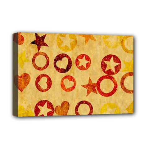 Shapes On Vintage Paper Deluxe Canvas 18  X 12  (stretched)