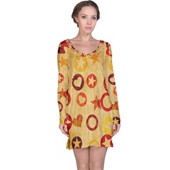 Shapes On Vintage Paper Nightdress