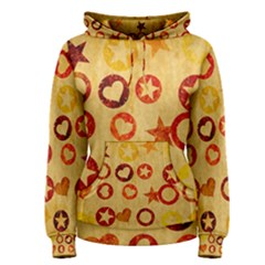 Shapes on vintage paper Pullover Hoodie