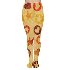 Shapes on vintage paper Tights