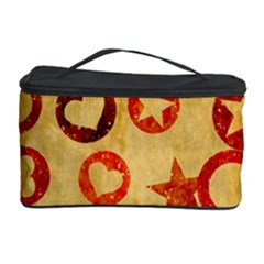 Shapes on vintage paper Cosmetic Storage Case