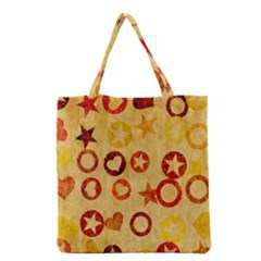 Shapes on vintage paper Grocery Tote Bag