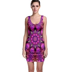 Pink Fractal Kaleidoscope  Bodycon Dress