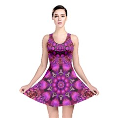 Pink Fractal Kaleidoscope  Reversible Skater Dress