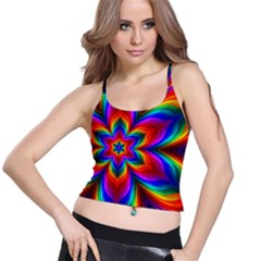 Rainbow Flower Spaghetti Strap Bra Top