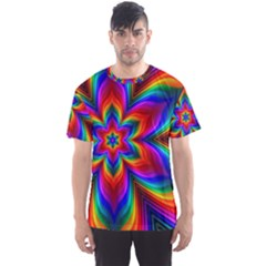 Rainbow Flower Men s Sport Mesh Tee