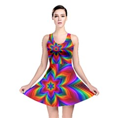Rainbow Flower Reversible Skater Dress