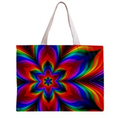 Rainbow Flower Tiny Tote Bag