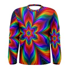 Rainbow Flower Men s Long Sleeve T-shirt