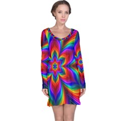Rainbow Flower Long Sleeve Nightdress