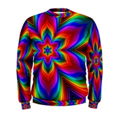 Rainbow Flower Men s Sweatshirt