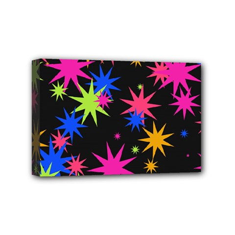 Colorful Stars Pattern Mini Canvas 6  X 4  (stretched)