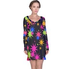 Colorful stars pattern nightdress