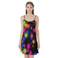 Colorful stars pattern Satin Night Slip