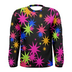 Colorful stars pattern Men Long Sleeve T-shirt