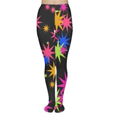 Colorful stars pattern Tights