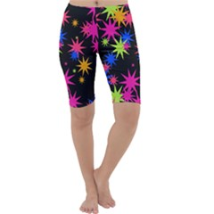 Colorful stars pattern Cropped Leggings