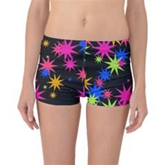 Colorful stars pattern Boyleg Bikini Bottoms