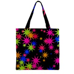 Colorful Stars Pattern Grocery Tote Bag
