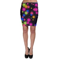 Colorful stars pattern Bodycon Skirt