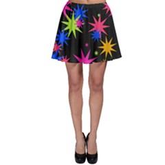 Colorful stars patternSkater Skirt