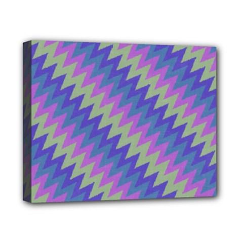 Diagonal Chevron Pattern Canvas 10  X 8  (stretched)