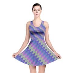 Diagonal chevron pattern Reversible Skater Dress