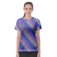 Diagonal chevron pattern Women s Sport Mesh Tee