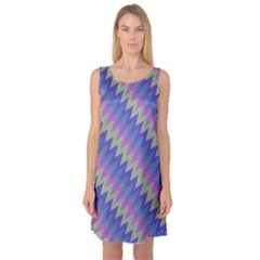 Diagonal chevron pattern Sleeveless Satin Nightdress