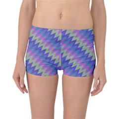 Diagonal chevron pattern Boyleg Bikini Bottoms