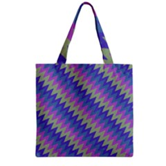 Diagonal chevron pattern Grocery Tote Bag