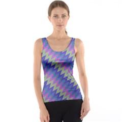 Diagonal chevron pattern Tank Top