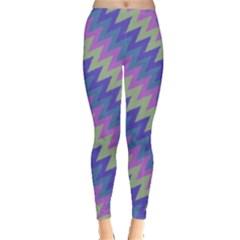 Diagonal chevron pattern Leggings