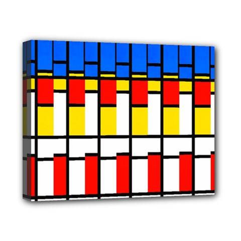 Colorful Rectangles Pattern Canvas 10  X 8  (stretched)