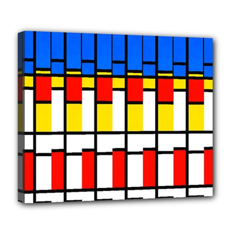 Colorful Rectangles Pattern Deluxe Canvas 24  X 20  (stretched)
