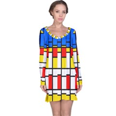 Colorful rectangles pattern nightdress