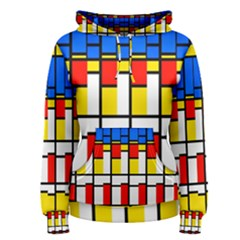 Colorful rectangles pattern Pullover Hoodie