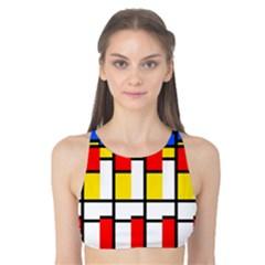 Colorful rectangles pattern Tank Bikini Top