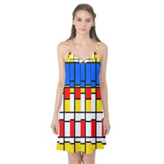 Colorful rectangles pattern Camis Nightgown