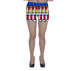 Colorful rectangles pattern Skinny Shorts