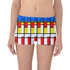 Colorful Rectangles Pattern Boyleg Bikini Bottoms