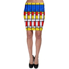 Colorful rectangles pattern Bodycon Skirt
