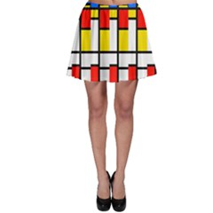Colorful Rectangles Patternskater Skirt
