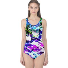 Large Officially Sexy Pink Floating Hearts Collection Large Copy One Piece Swimsuit