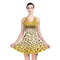 Yellow Leopard Skin Reversible Skater Dress