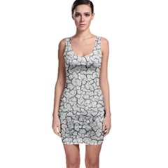 Cracked Abstract Print Texture Bodycon Dress