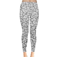 Cracked Abstract Print Texture Leggings