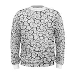 Cracked Abstract Print Texture Men s Sweatshirt