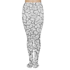 Cracked Abstract Print Texture Tights