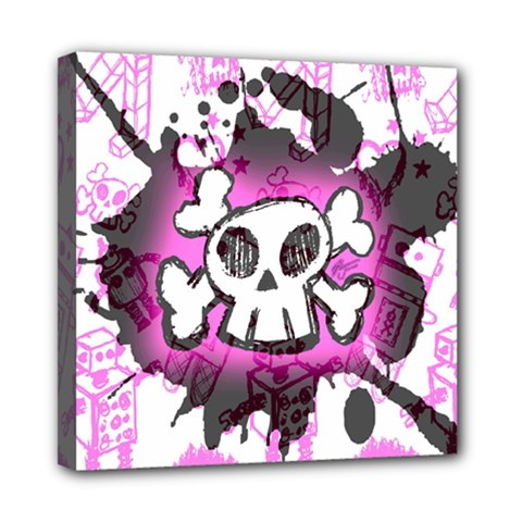 Cartoon Skull  Mini Canvas 8  X 8  (framed)